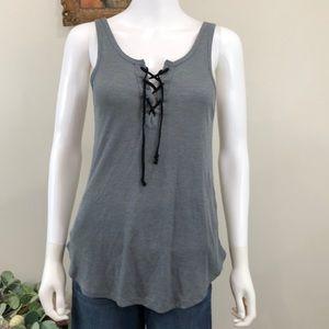 🦋 Xhilaration Sleepwear Tank Top Gray Lace Up